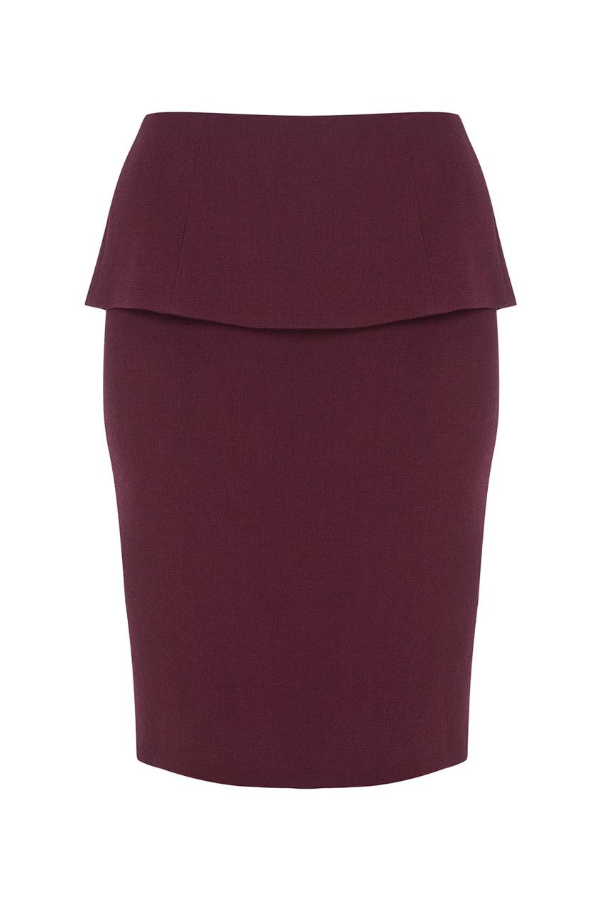 Фото 4 - Шерстяная юбка от Chapurin красного цвета