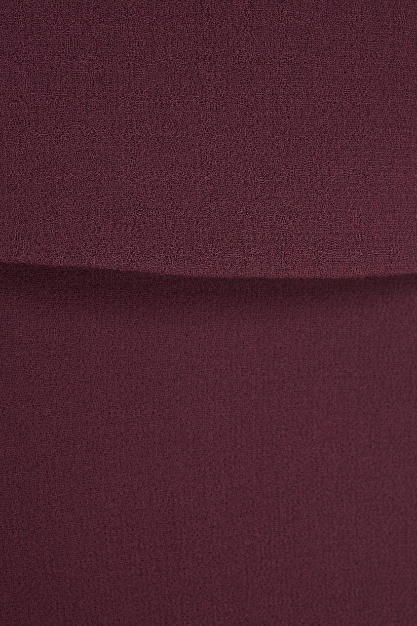 Фото 5 - Шерстяная юбка от Chapurin красного цвета
