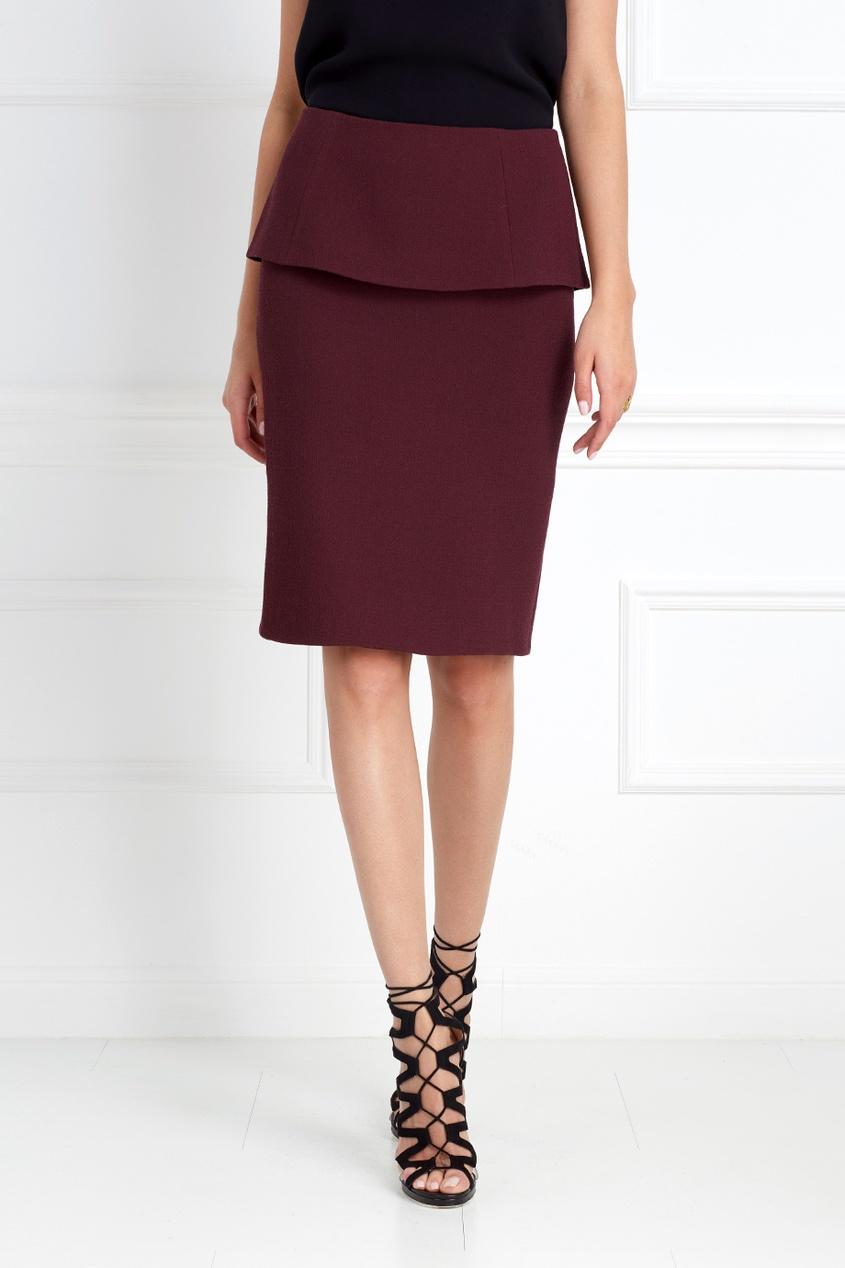 Фото 6 - Шерстяная юбка от Chapurin красного цвета