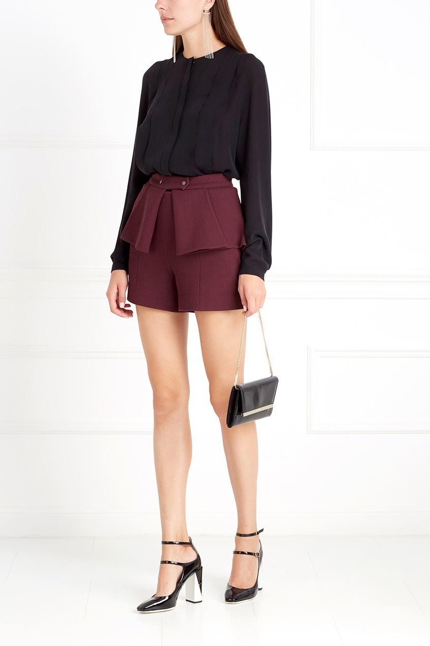 Фото 3 - Шерстяные шорты от Chapurin красного цвета