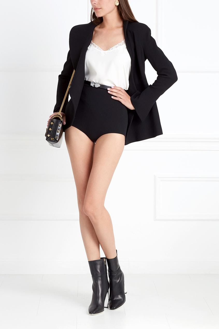 Фото 4 - Шерстяные шорты от Chapurin черного цвета