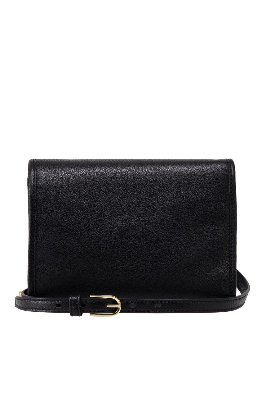 Фото - Кожаная сумка от Tory Burch черного цвета