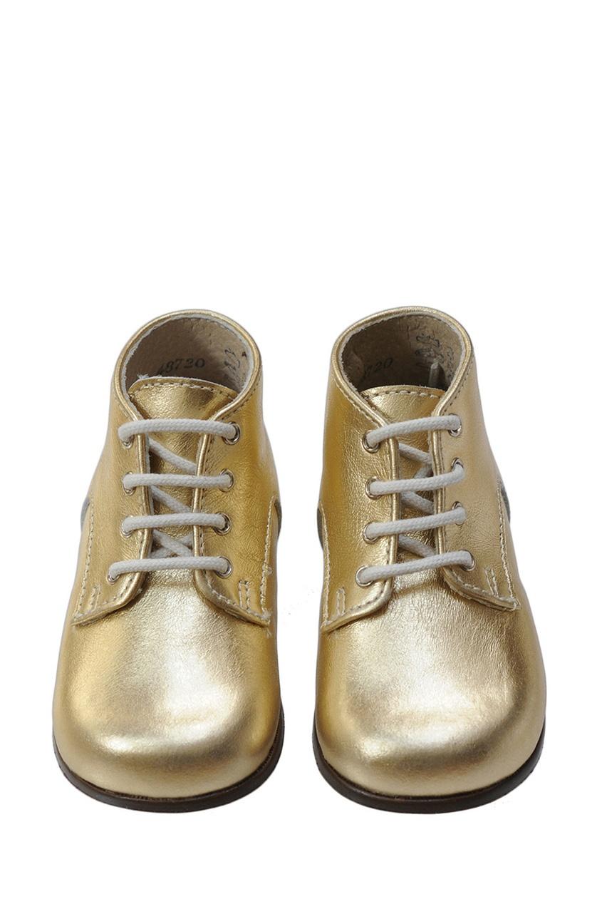 Ботинки из металлизированной кожи Little Mary for Bonpoint