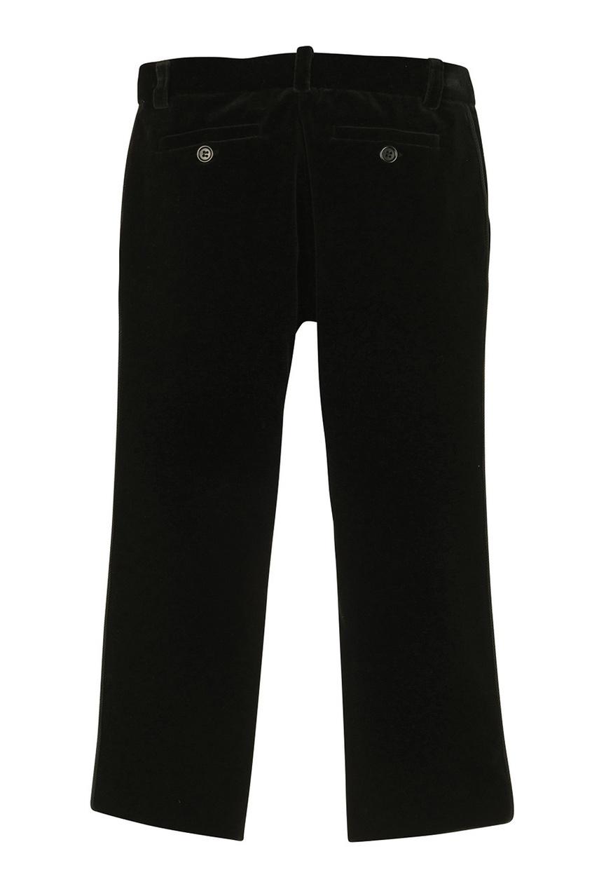 Фото 2 - Однотонные брюки Bea от Bonpoint черного цвета