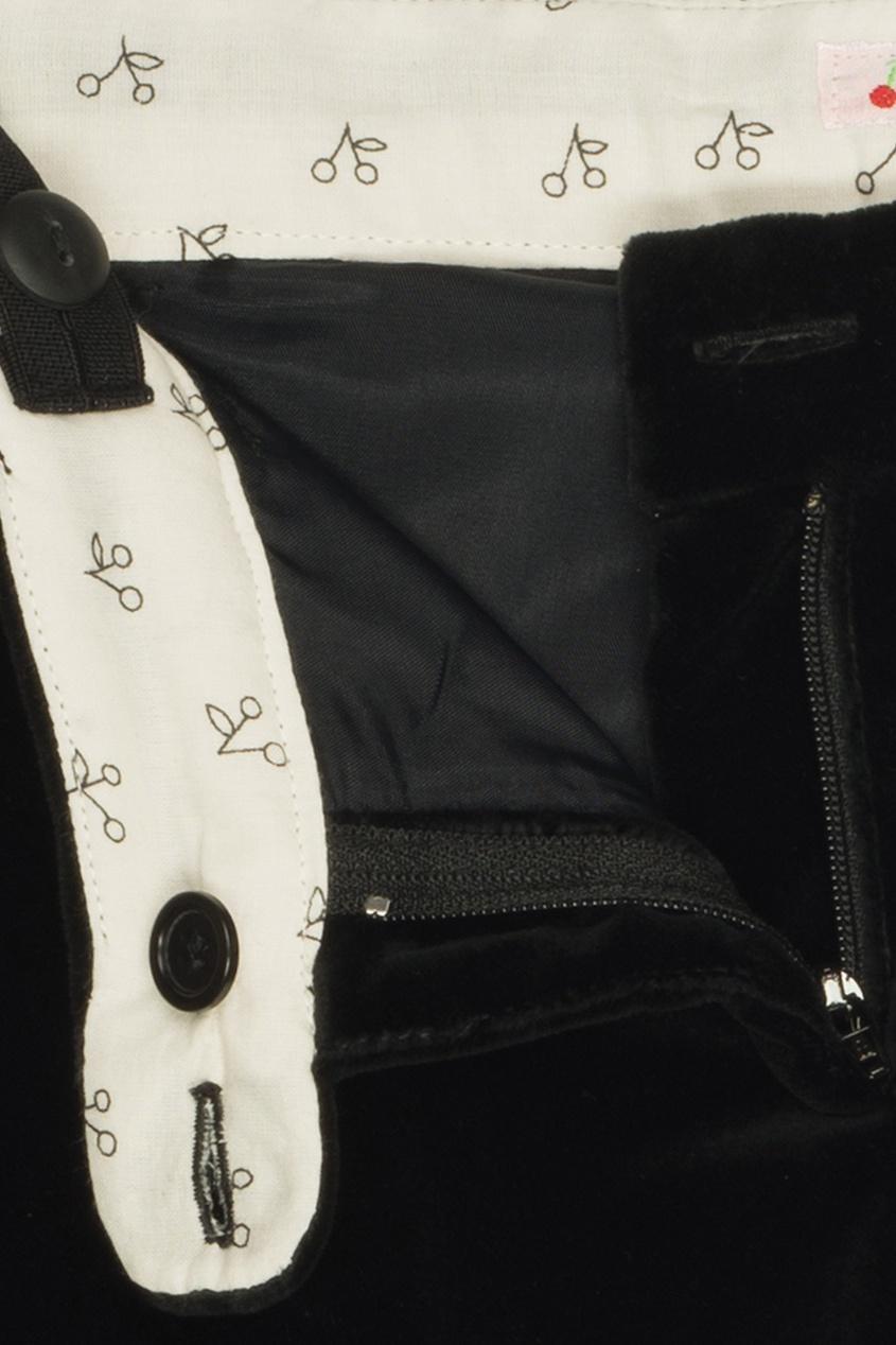 Фото 4 - Однотонные брюки Bea от Bonpoint черного цвета