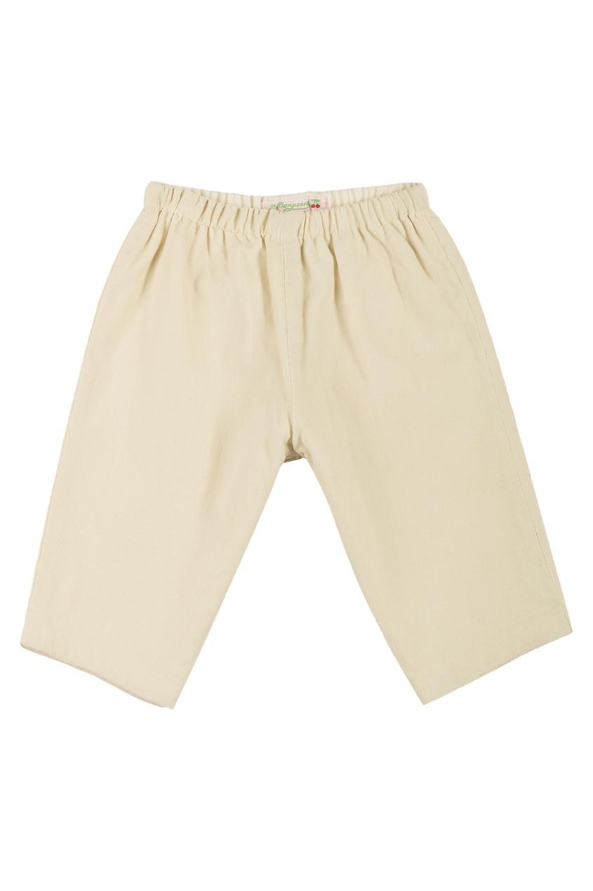 Фото 2 - Однотонные брюки Dandy от Bonpoint бежевого цвета