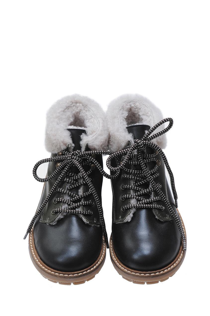 Bonpoint Кожаные ботинки Henry кожаные утепленные ботинки с металлическим подноском тракт грейдер размер 45 бот092045