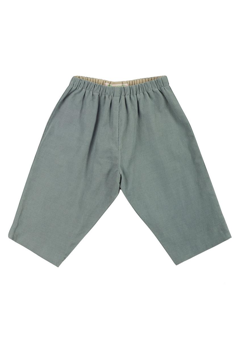 Фото 2 - Однотонные брюки Dandy от Bonpoint синего цвета