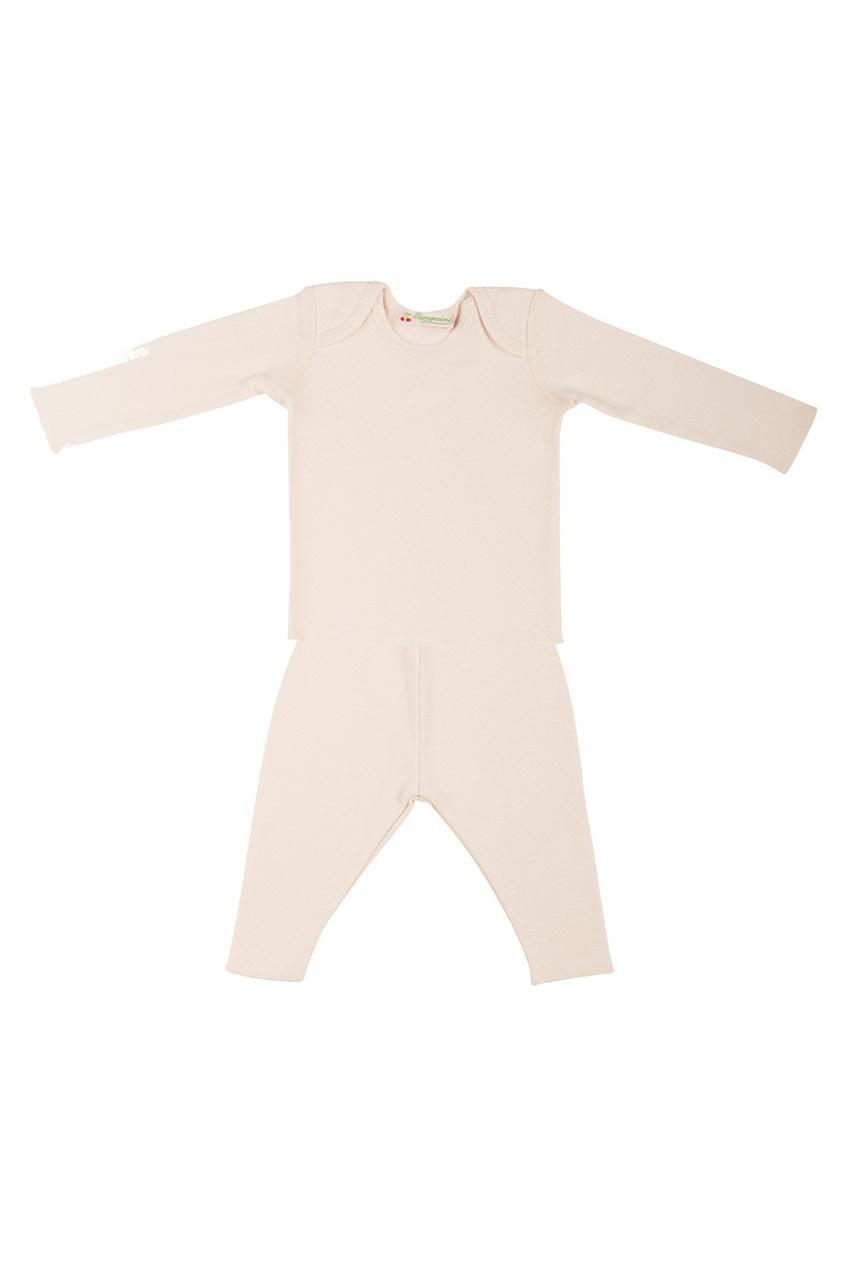 Фото 2 - Хлопковый комплект от Bonpoint розового цвета