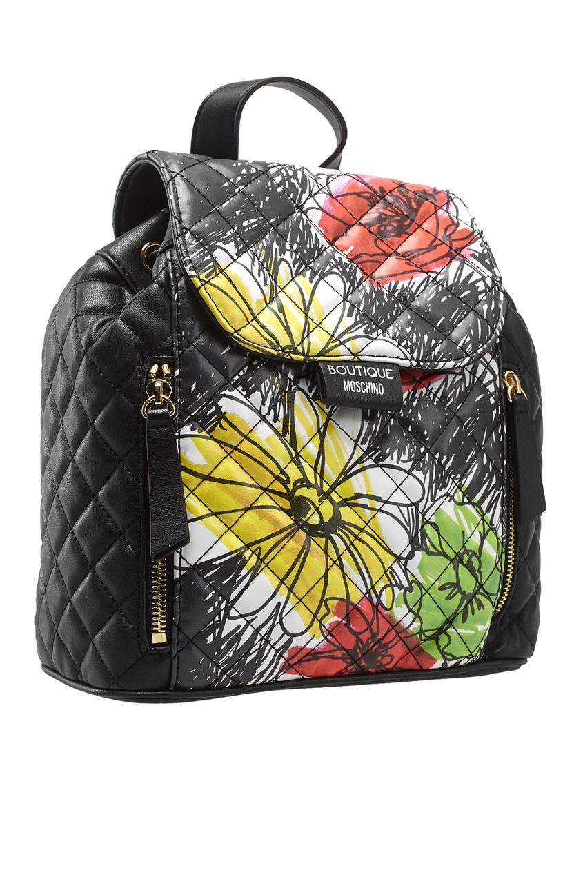 Стеганый рюкзак с принтом