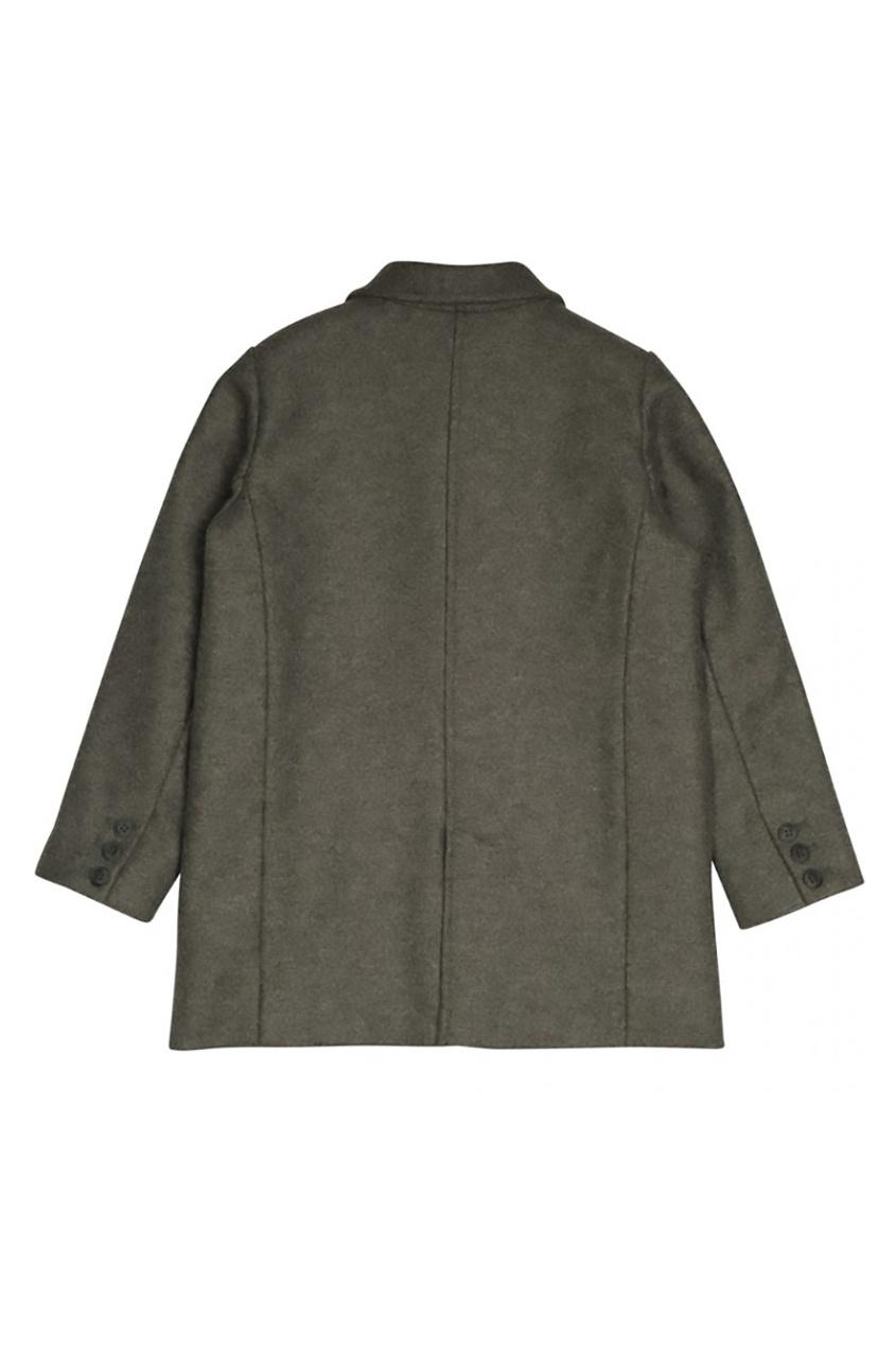 Фото 2 - Шерстяное пальто Dickens от Bonpoint серого цвета