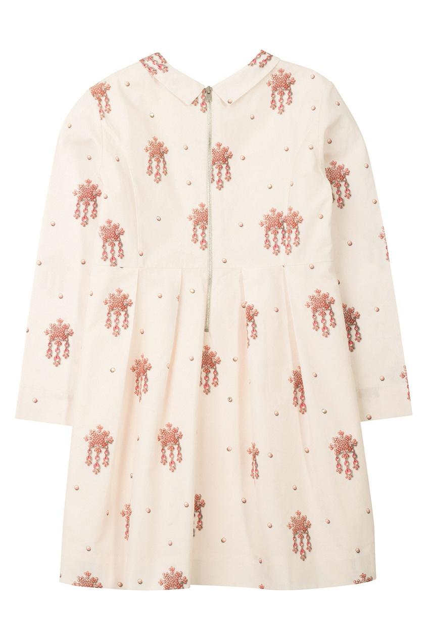 Фото - Платье с принтом Dalhia от Bonpoint розового цвета
