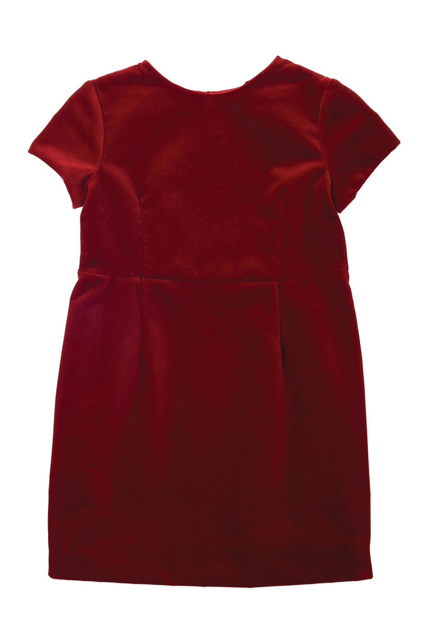 Фото 2 - Платье с отложным воротником Diva от Bonpoint красного цвета