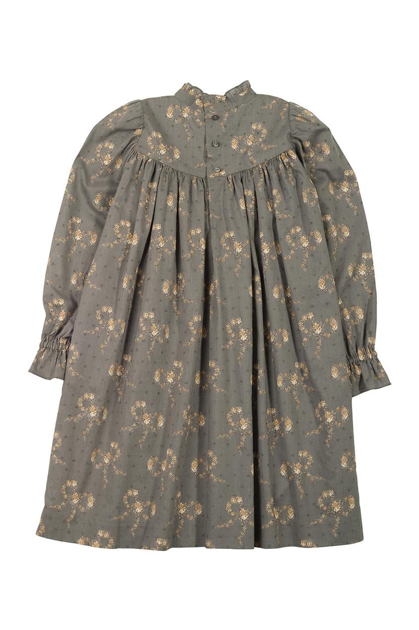 Фото - Платье с принтом Delphine от Bonpoint серого цвета