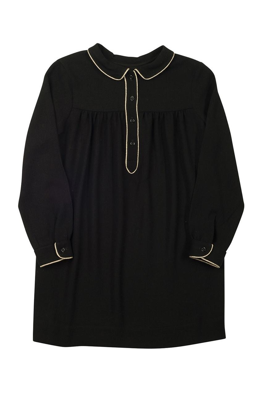 Фото 2 - Платье с отложным воротником Dorothee от Bonpoint черного цвета