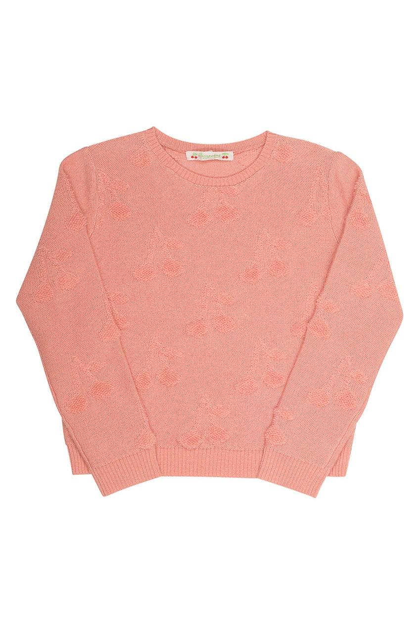 Фото - Однотонный джемпер от Bonpoint розового цвета