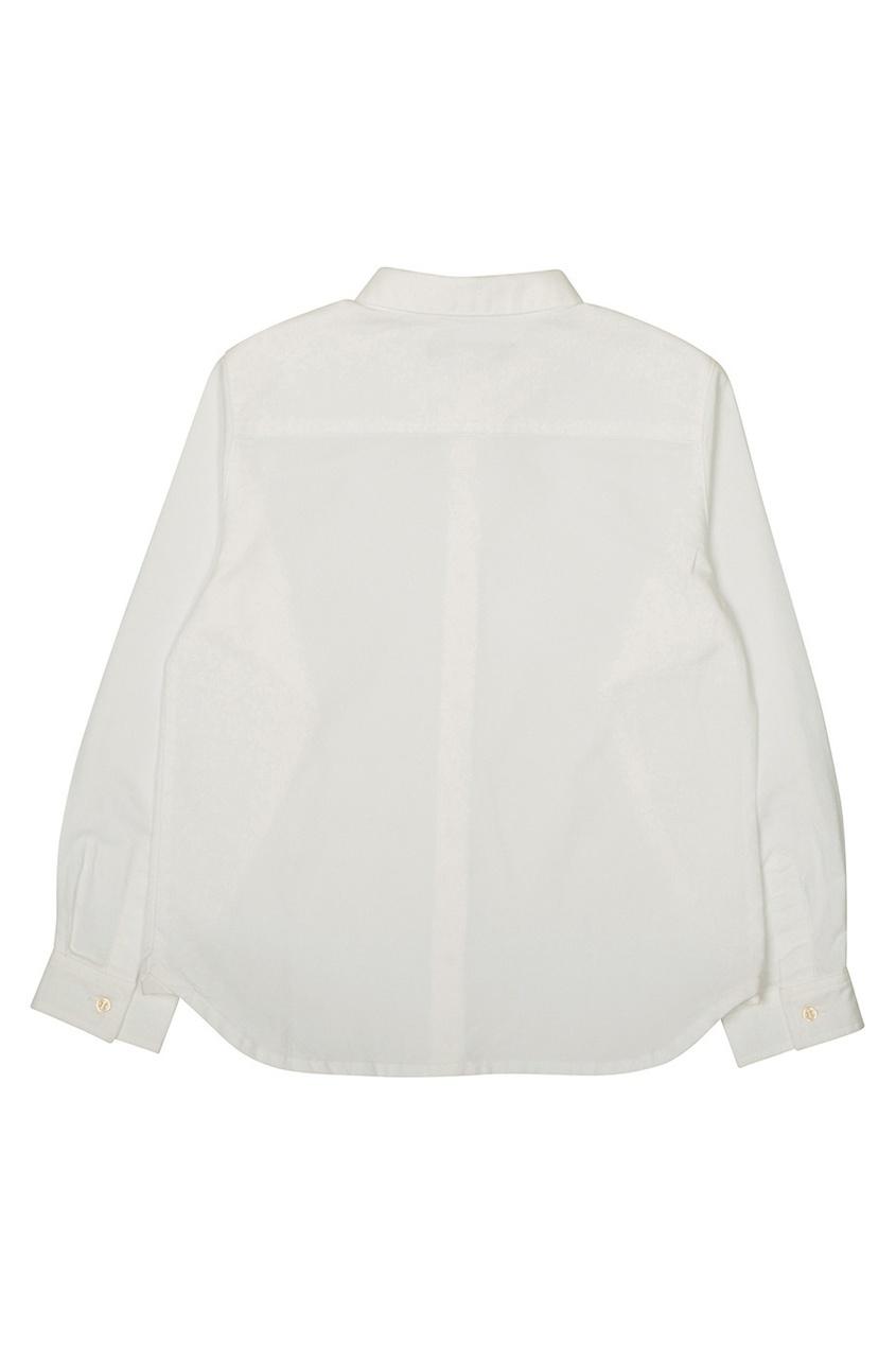 Фото 2 - Хлопковая рубашка Brice от Bonpoint белого цвета