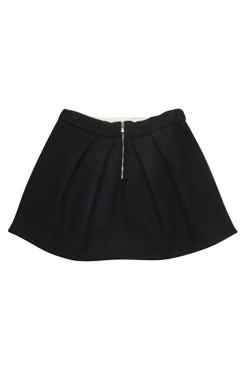 Фото 2 - Однотонная юбка Theonie от Bonpoint черного цвета