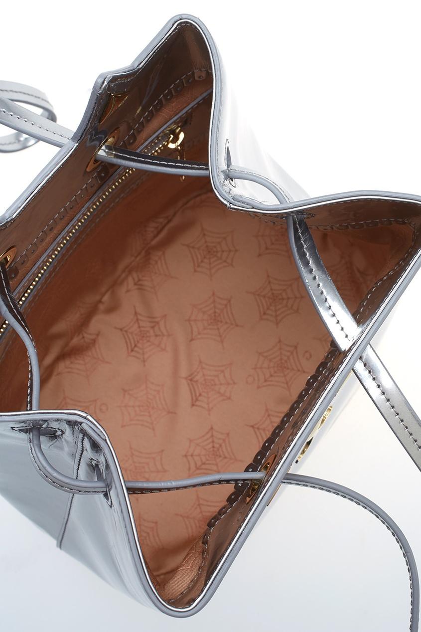 Сумка из металлизированной кожи Feline Bucket Bag