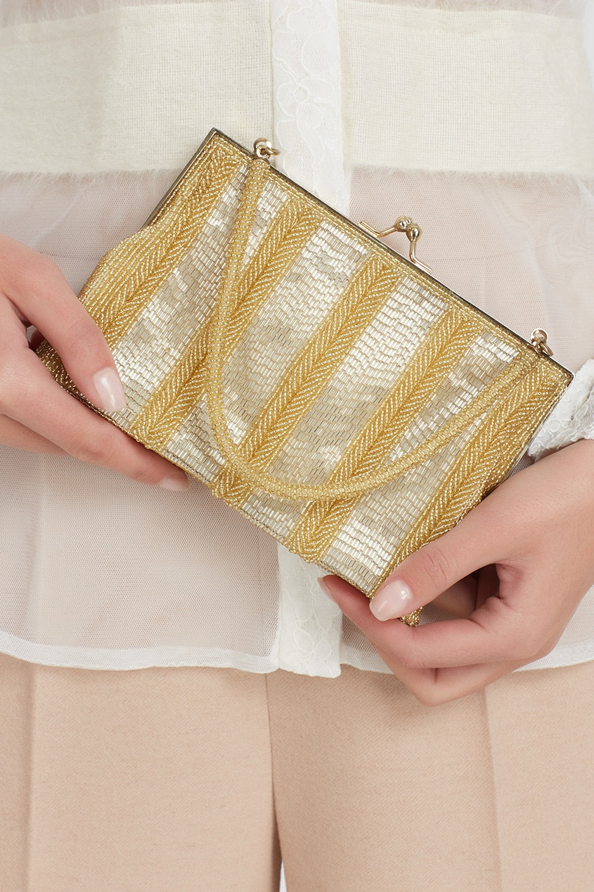 Walborg Vintage Золотистая сумка со стеклярусом (80-е) co e