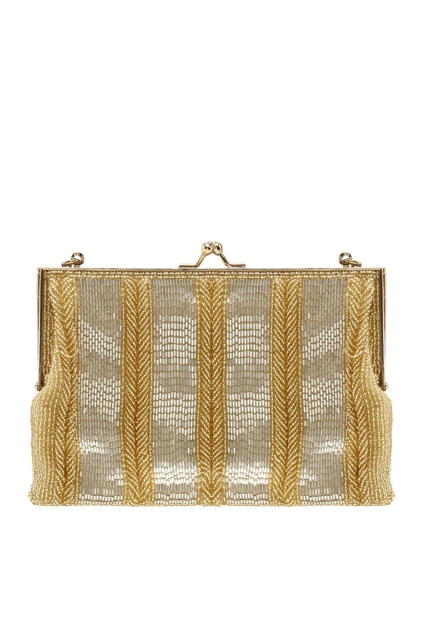 Walborg Vintage Золотистая сумка со стеклярусом (80-е) co e [co e ]skinbeauty 150ml