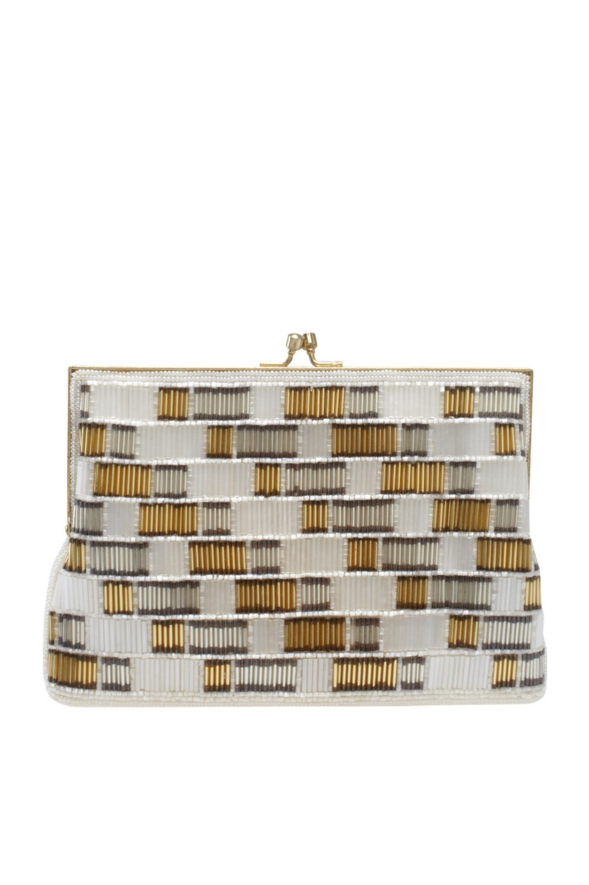 Walborg Vintage Бело-золотая сумка со стеклярусом (80-е) co e [co e ]skinbeauty 150ml