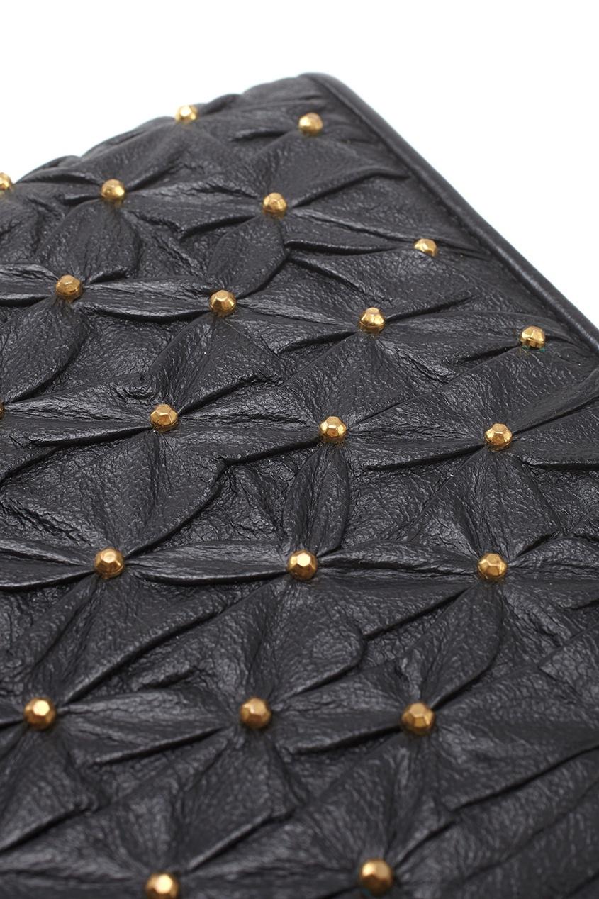 Фото 5 - Кожаный клатч (80-е) от Moscowitz Vintage черного цвета