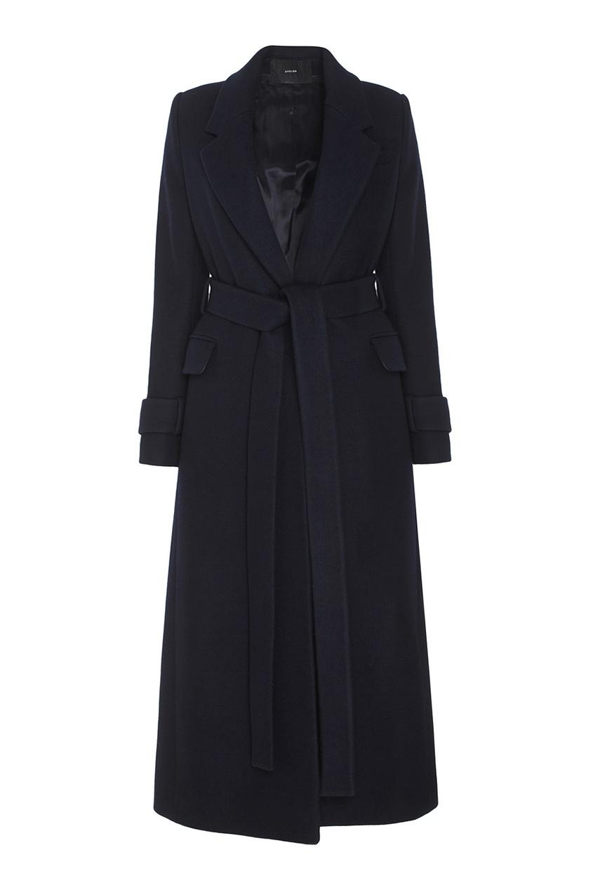Шерстяное пальто Avelon 122433913 синий фото