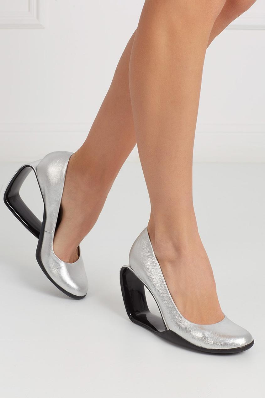 United Nude Туфли из металлизированной кожи Moblus Pump
