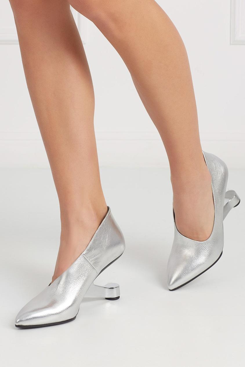 Туфли из металлизированной кожи Eamz Ellie