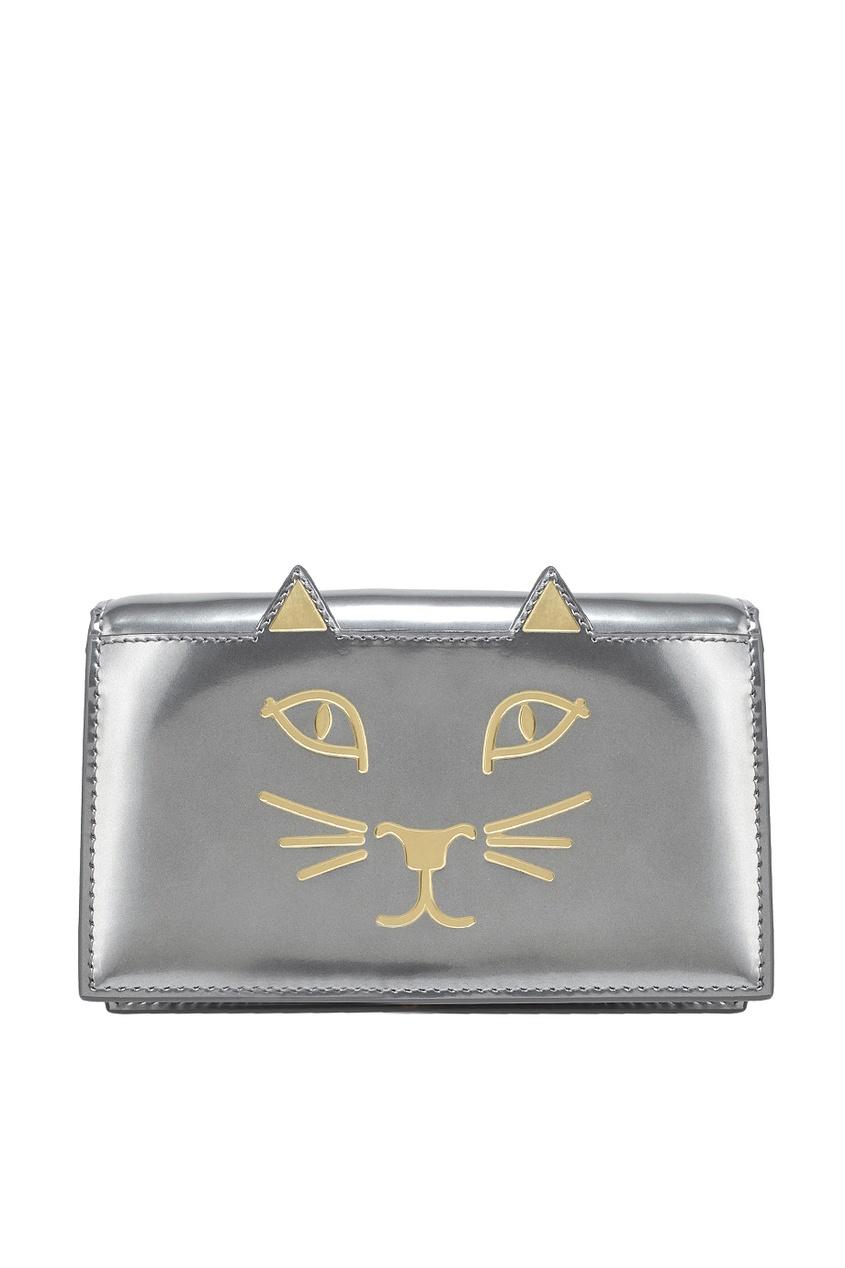 Кошелек из металлизированной кожи Feline Purse