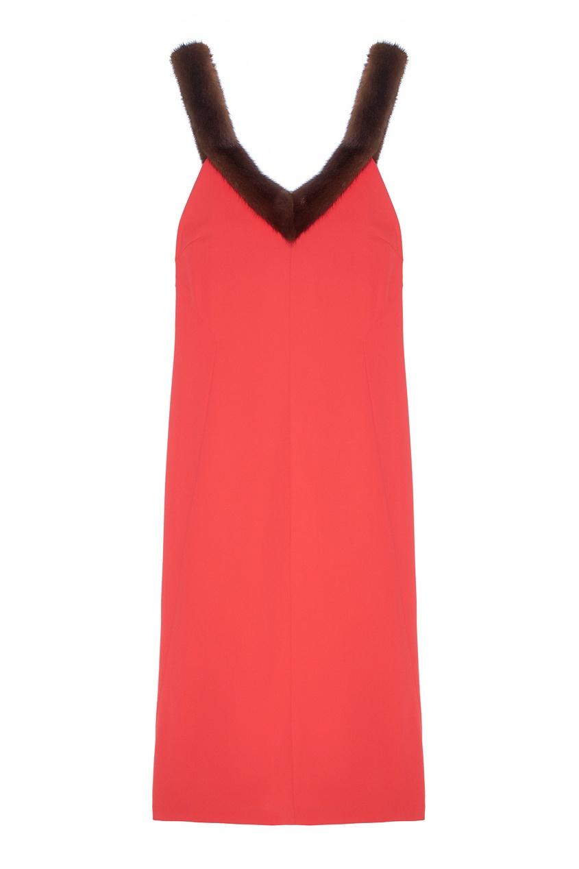 Платье с мехом норки