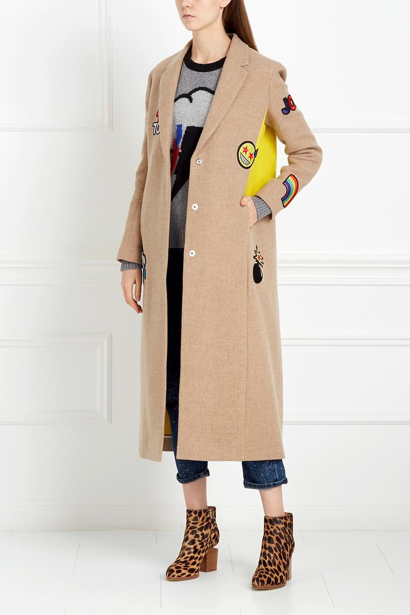 Пальто из хлопка и шерсти
