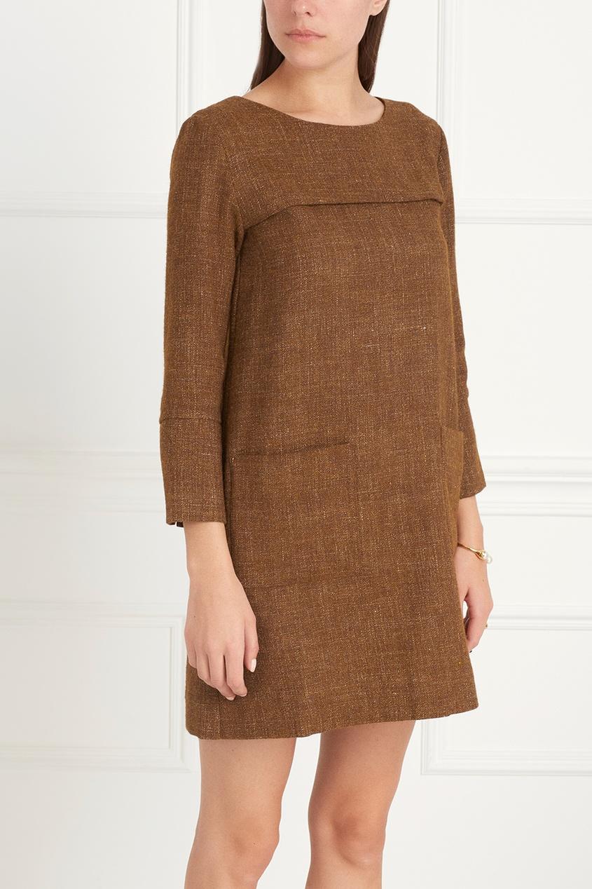 Платье из шерсти и льна SUGI