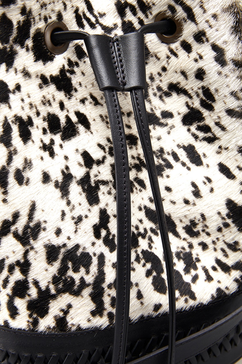 Кожаная сумка с мехом пони BABBO CLASSE