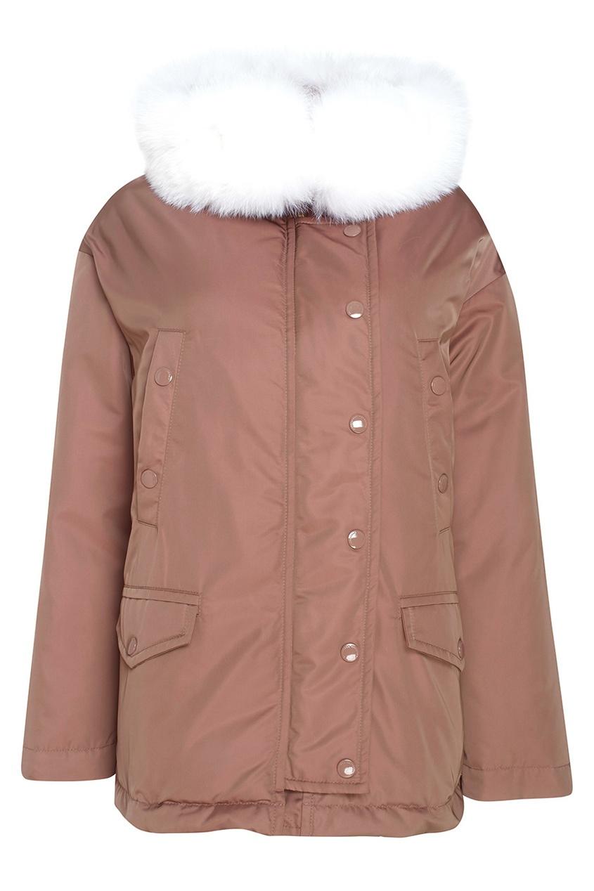 Куртка с мехом песца