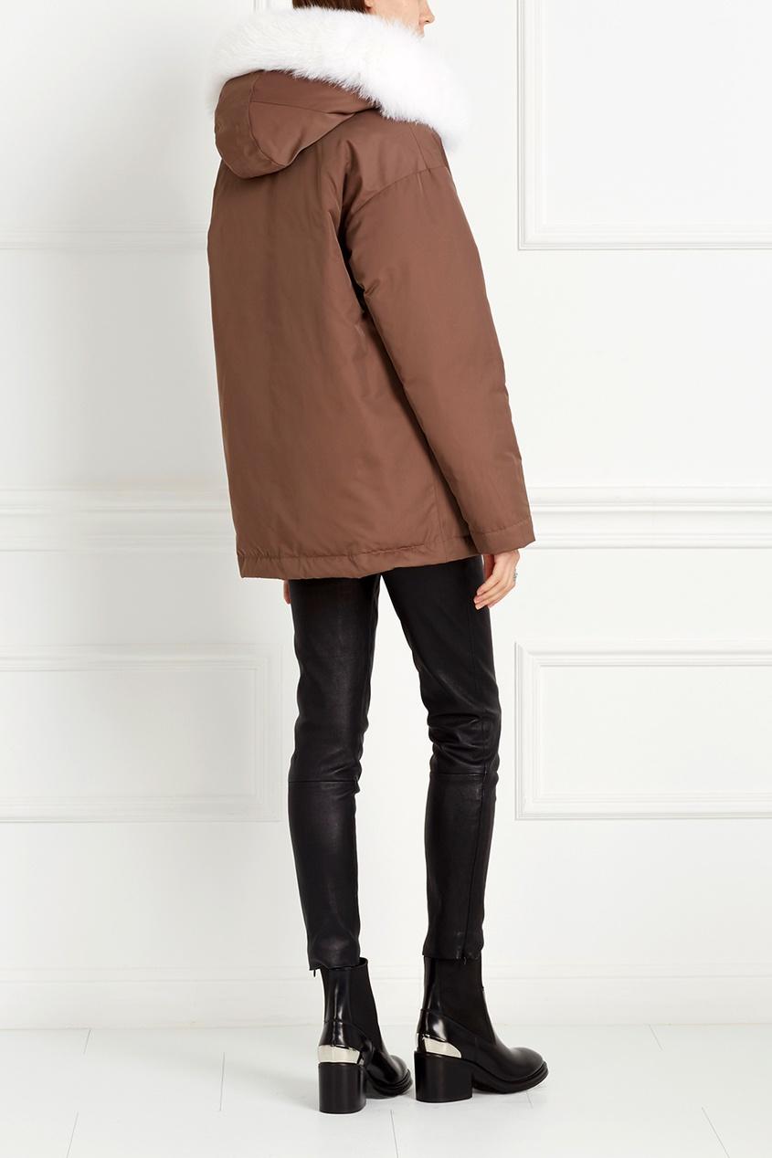 Куртка с мехом песца от AIZEL