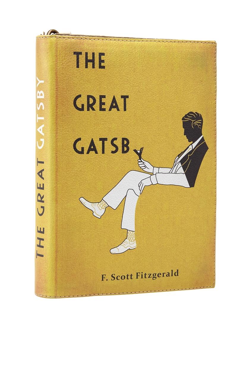 Кожаный клатч The Great Gatsby