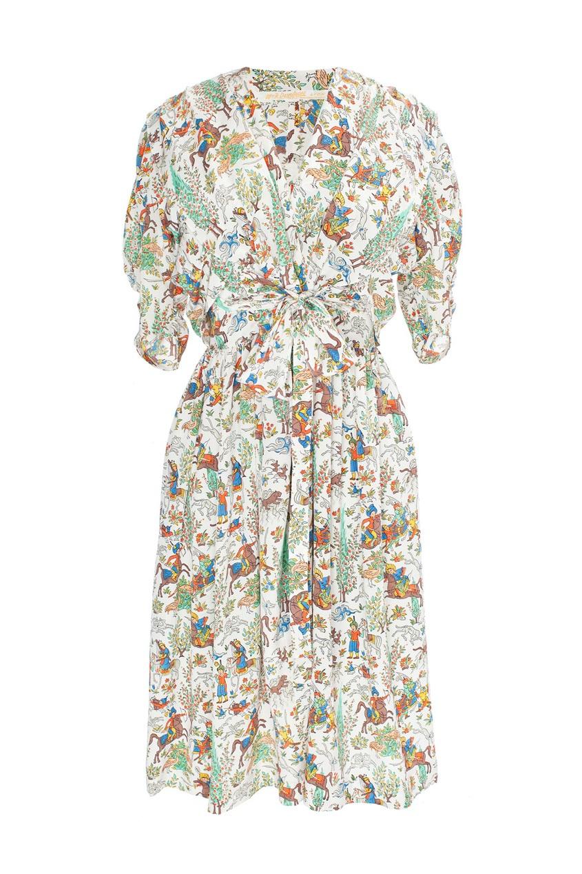 Платье с принтом в виде всадников (60-е гг.) продано