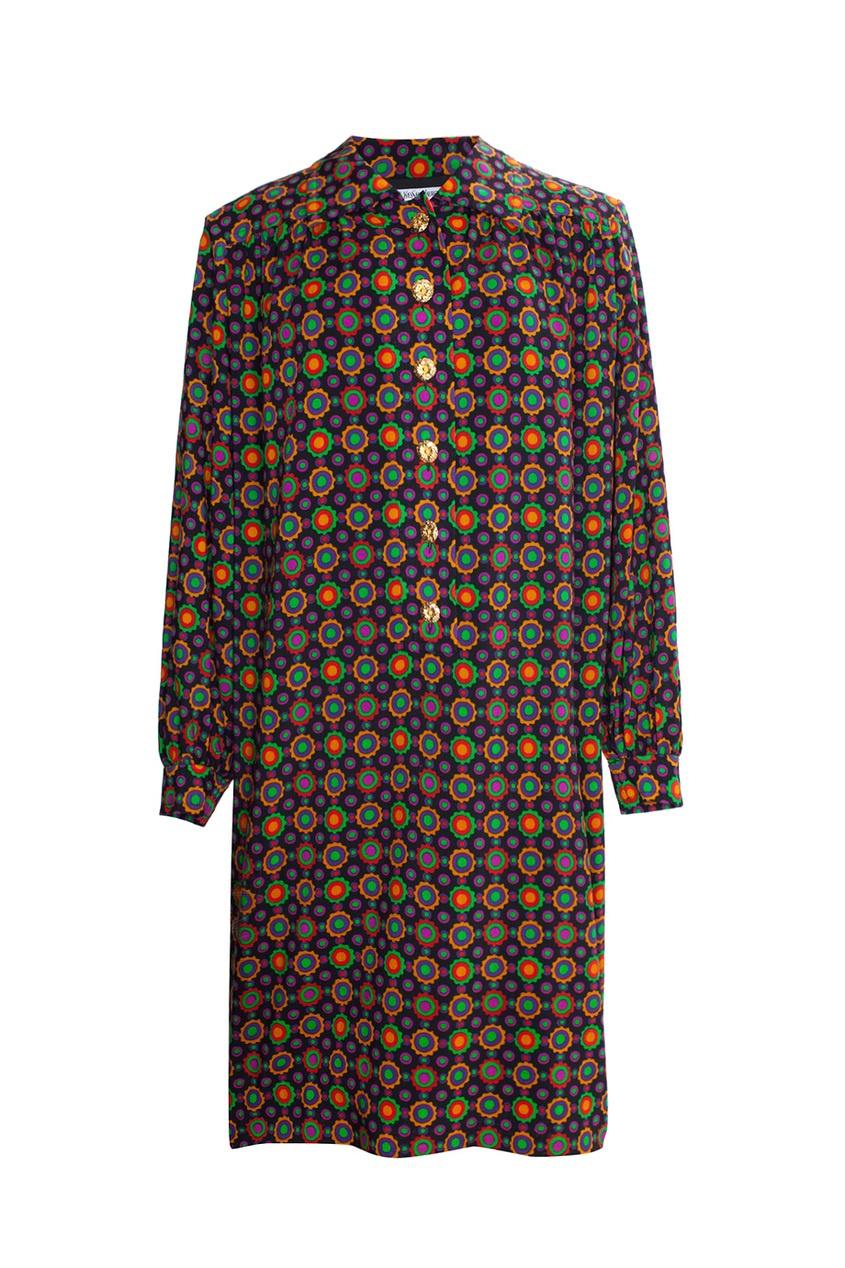 Платье свободного кроя на пуговицах (70-е гг.)