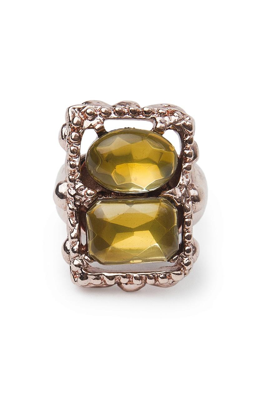 Кольцо из металла и стекла (80-е гг.) - нет в наличии