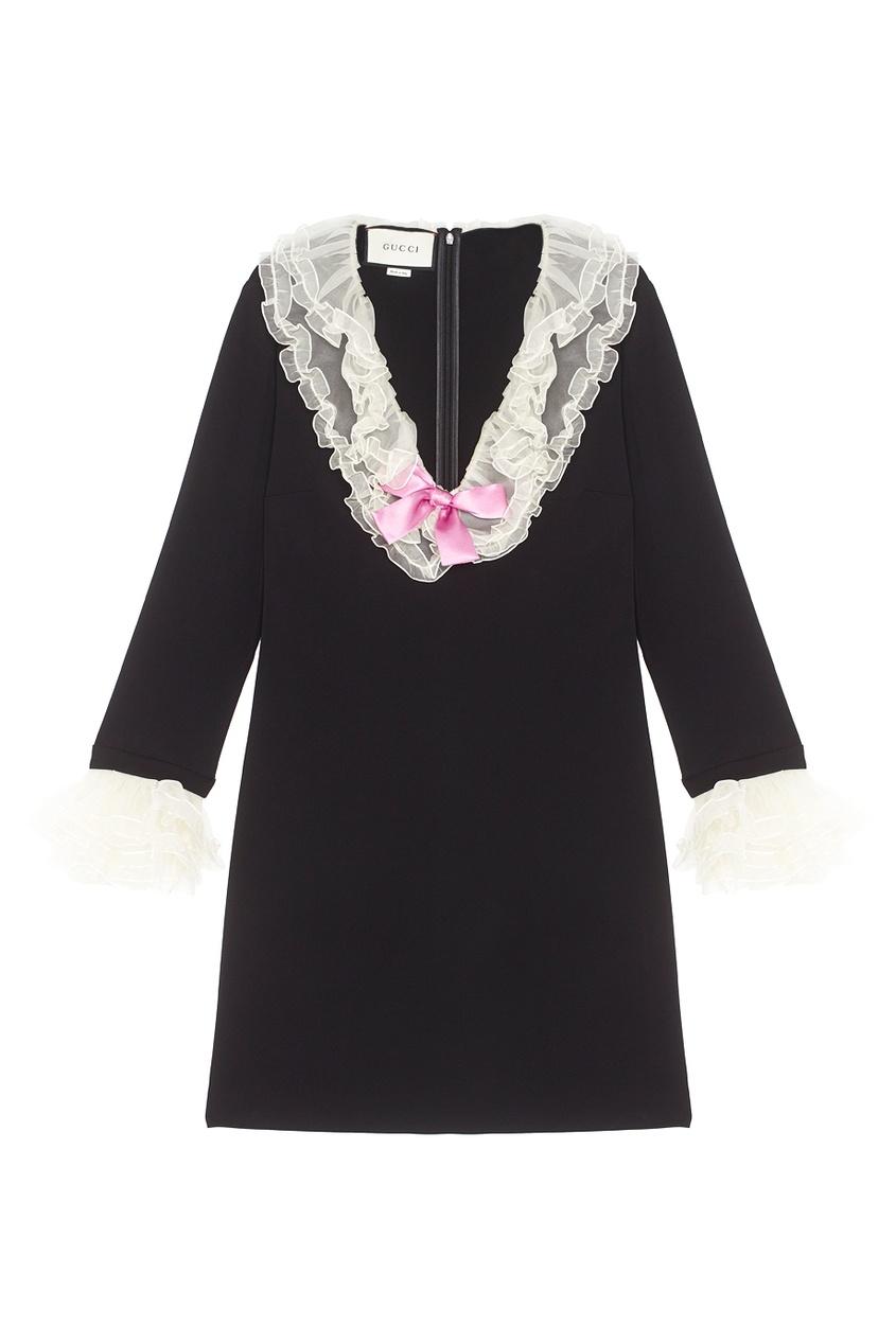 Gucci Платье с V-образным вырезом