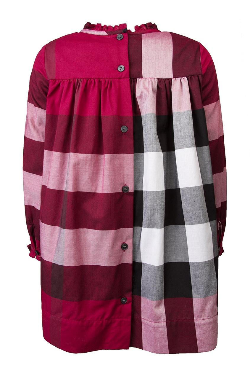Burberry Children Хлопковое платье burberry кружевное платье