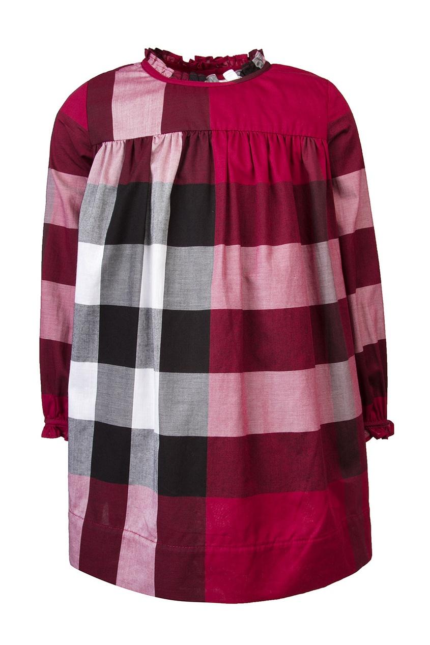 Burberry Children Хлопковое платье burberry хлопковое пальто