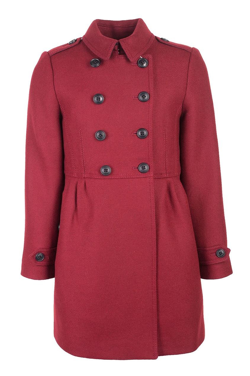 Burberry Children Шерстяное пальто