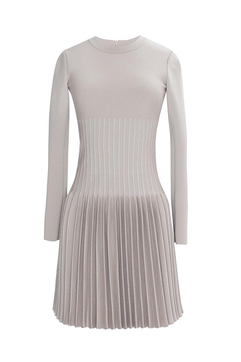 Платье из шерсти и вискозы