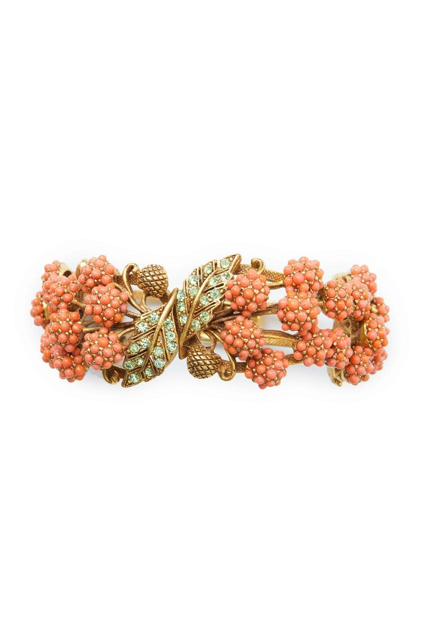 Браслет с коралловыми малинками (80-е гг.)
