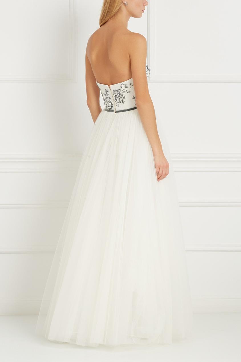 Платье-бюстье с вышивкой