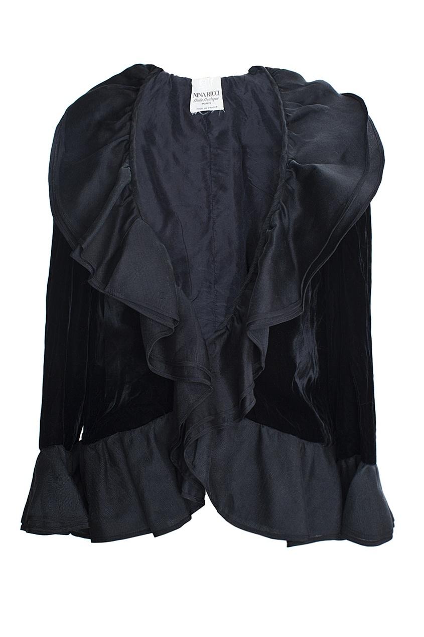 Nina Ricci Vintage Бархатный жакет с воланами (80-е гг.) nina ricci vintage винтажное колье с кулоном 90 е