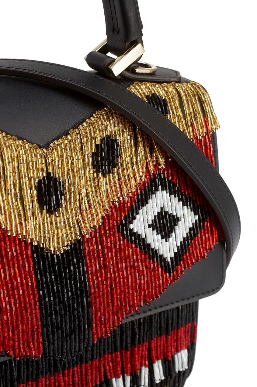 Кожаная сумка Mini Alex